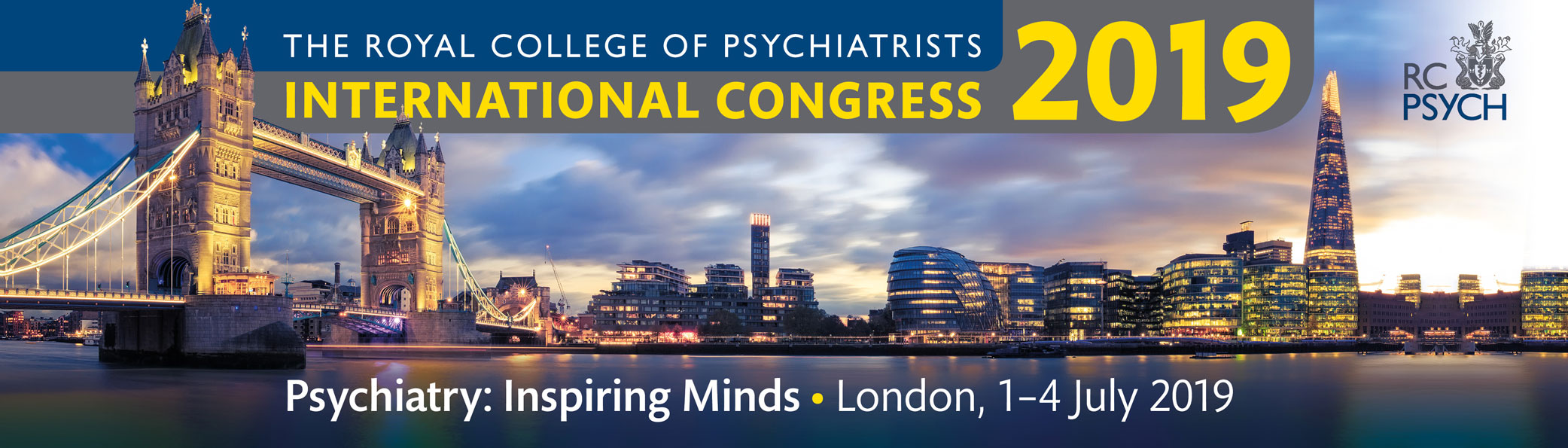 International Congress 2019 | London, 1-4 July 2019 | Psychiatry: Inspiring Minds