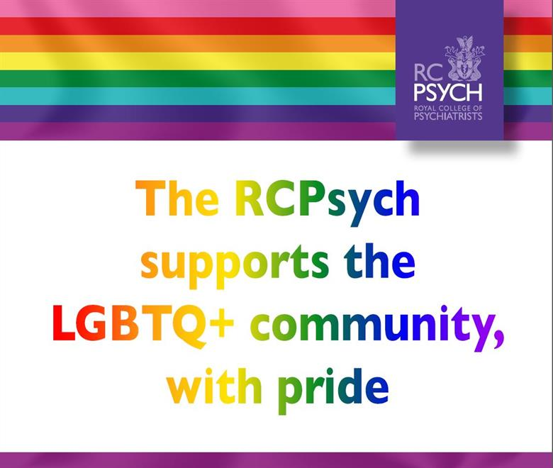 The RCPsych supports the LGBTQ+ community with pride