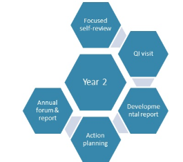 Diagram showing the developmental 'QI' Review