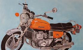 50. Alan Higgins - pre illness motorbike mechanic cropped