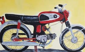 51. Alan Higgins - pre illness motorbike mechanic cropped