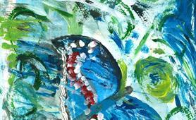 62. Elgin Bannerman - Summer garden (Alzheimers Aberdeen Art Group) cropped