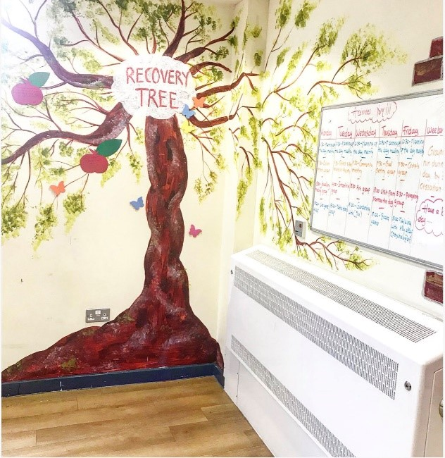 Example of Recovery Tree picture from a ward wall.