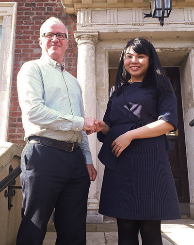 Dr Gerry Lynch with Dr Vivian Sing