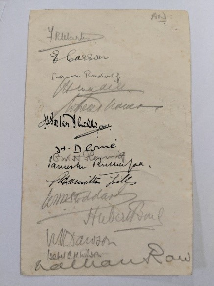 gaskell club signatures