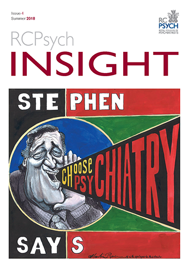 Cover of RCPsych Insight, Summer 2018